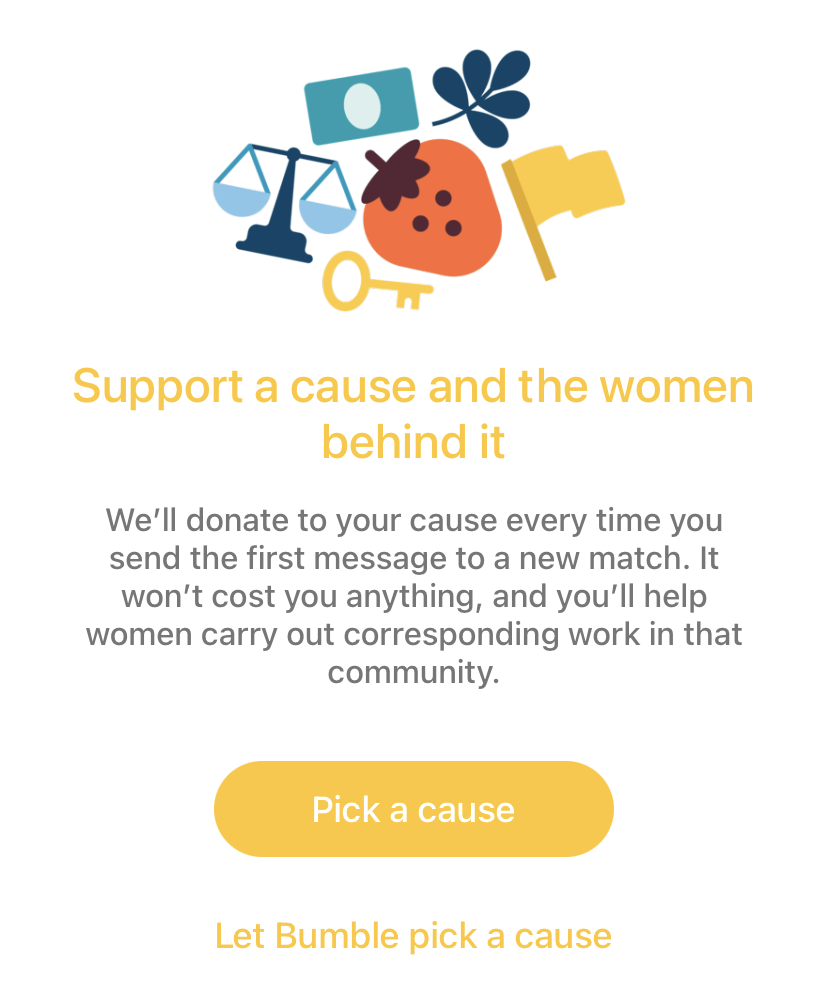 Bumble Donations To Charity In App